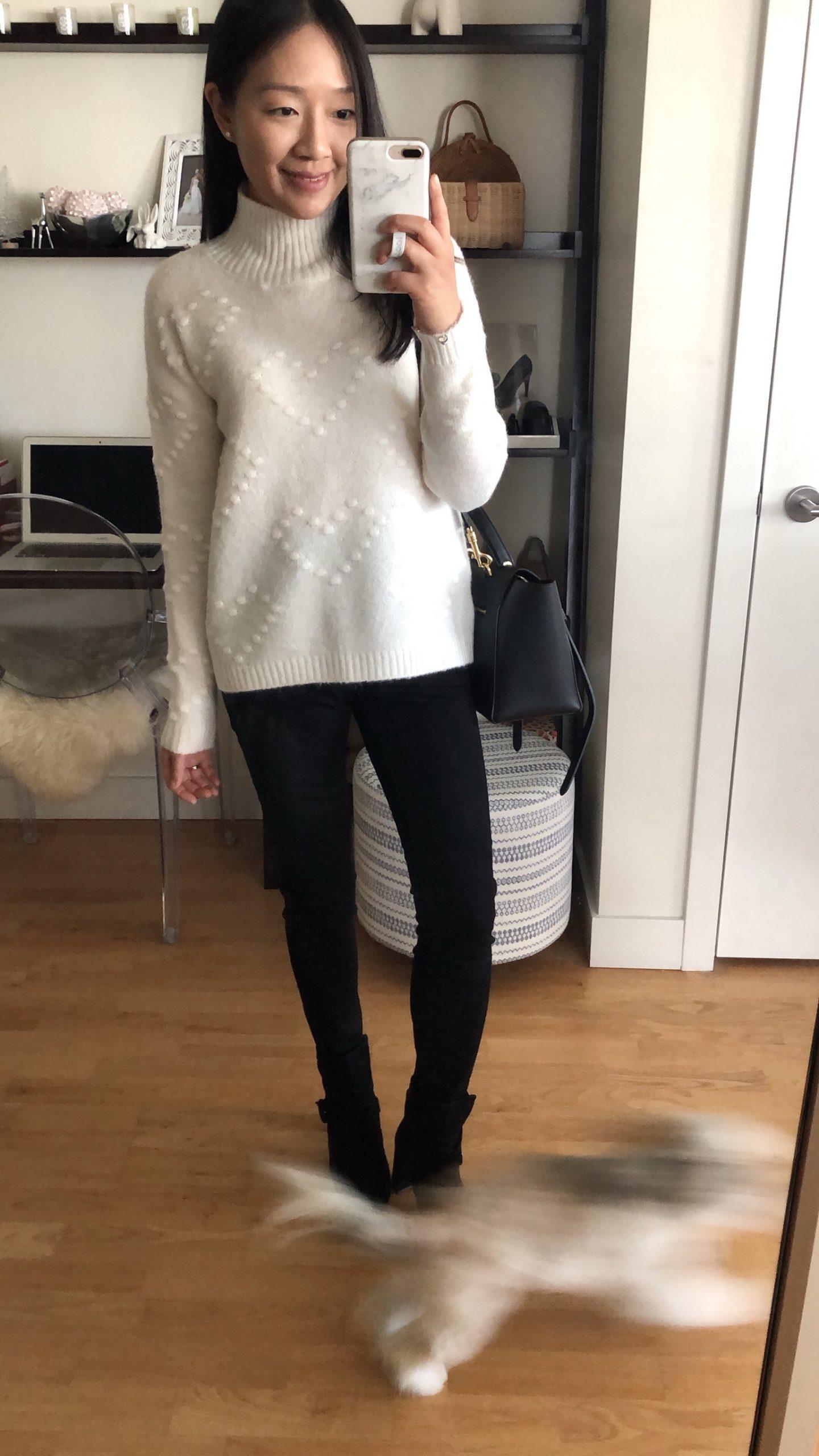 LOFT Outlet Heart Bobble Sweater, size S