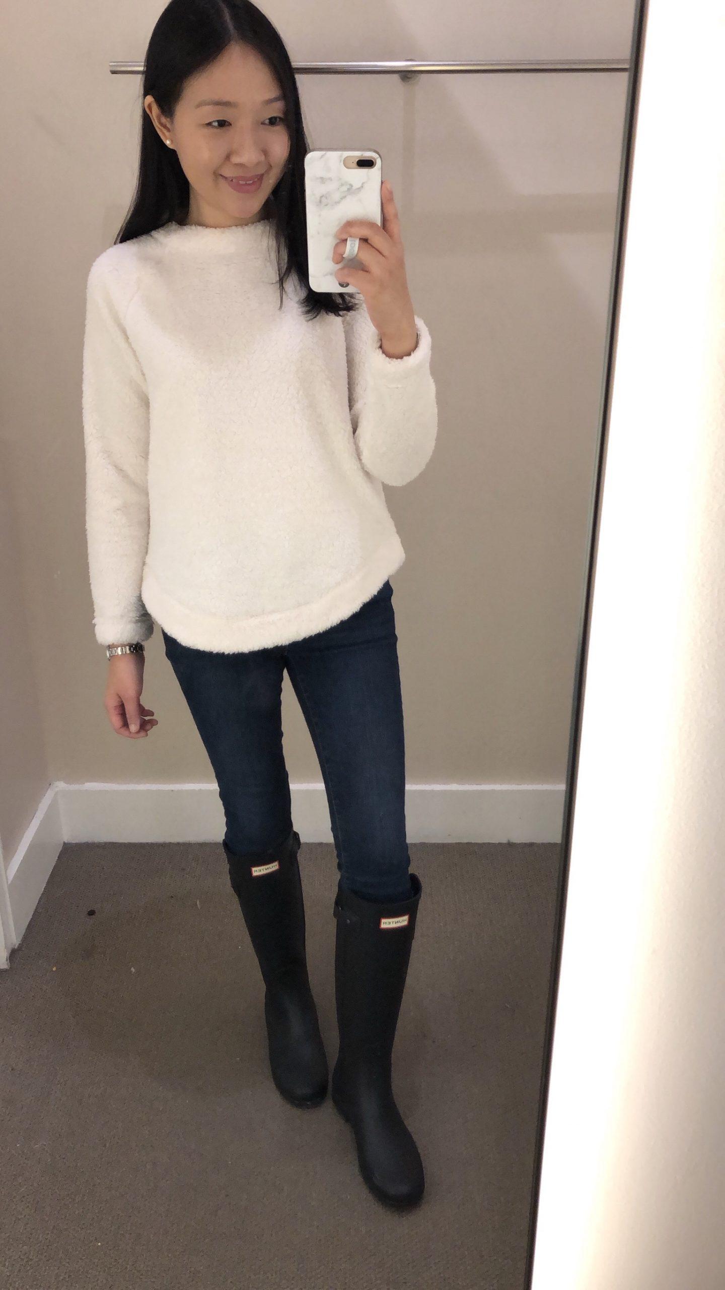 LOFT Fleece Sweatshirt, size XSP