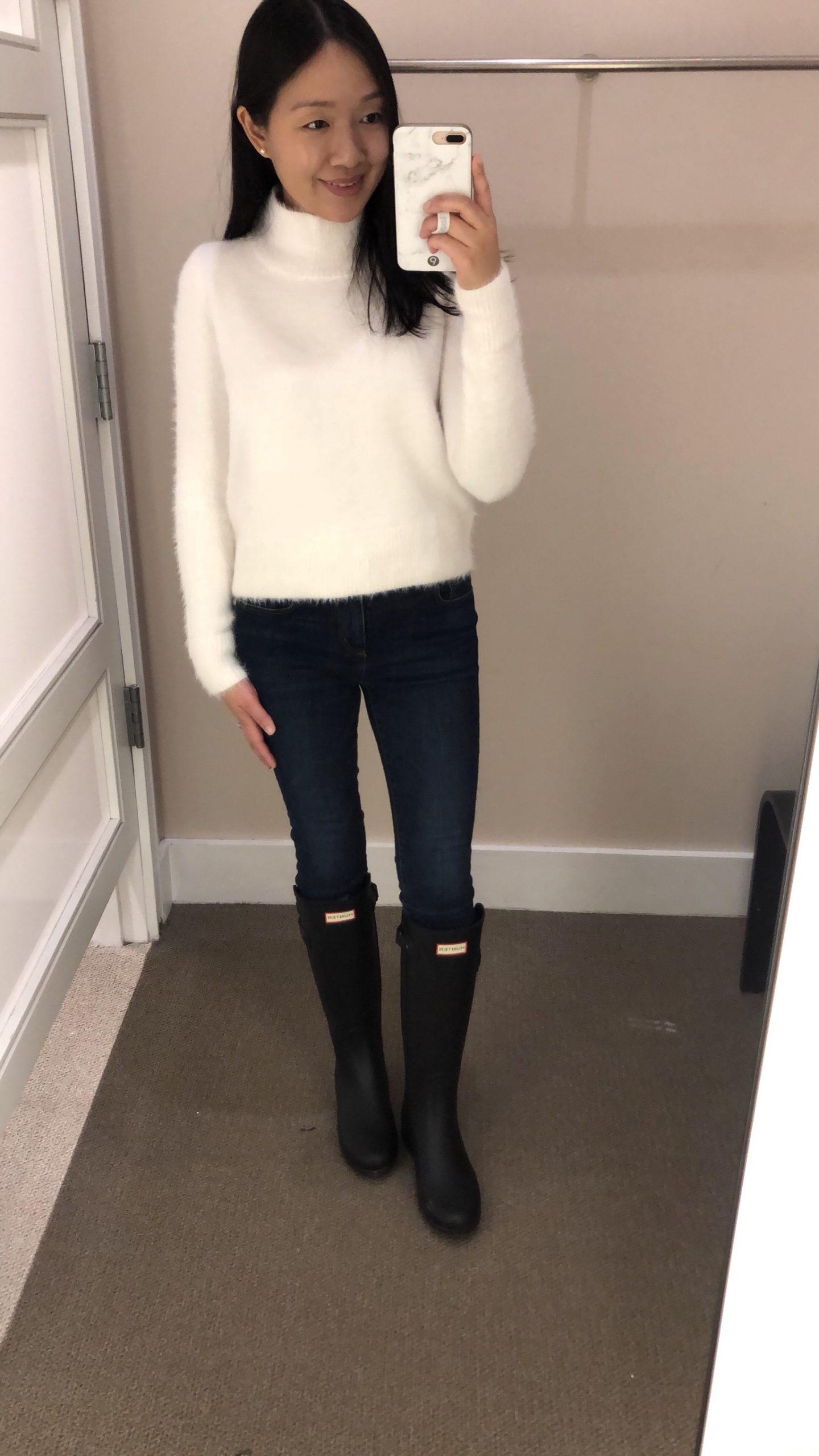 LOFT Fuzzy Cropped Sweater, size XS regular