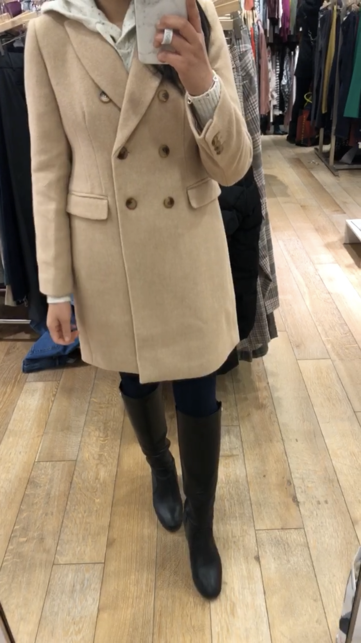 LOFT Wool Twill Double Breasted Coat, size XXSP