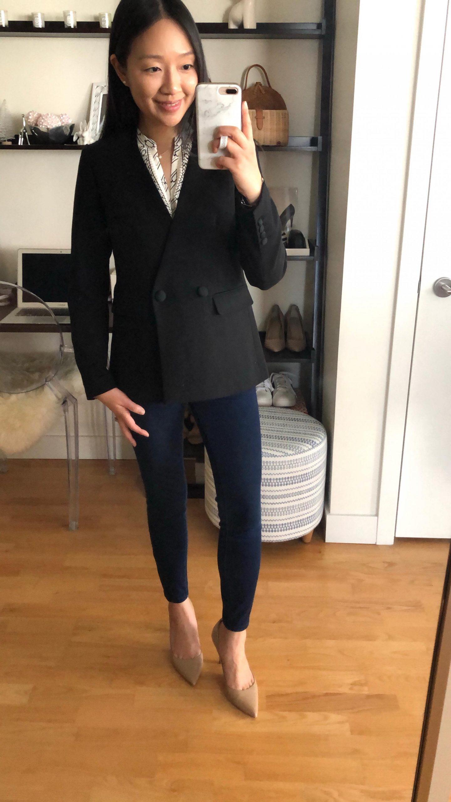 Ann Taylor Doubleweave Collarless Jacket, size 0P