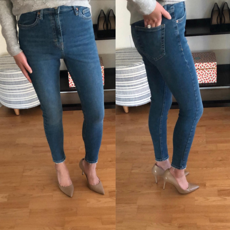 Topshop Jamie High Waist Crop Skinny Jeans, size 26W x 30L