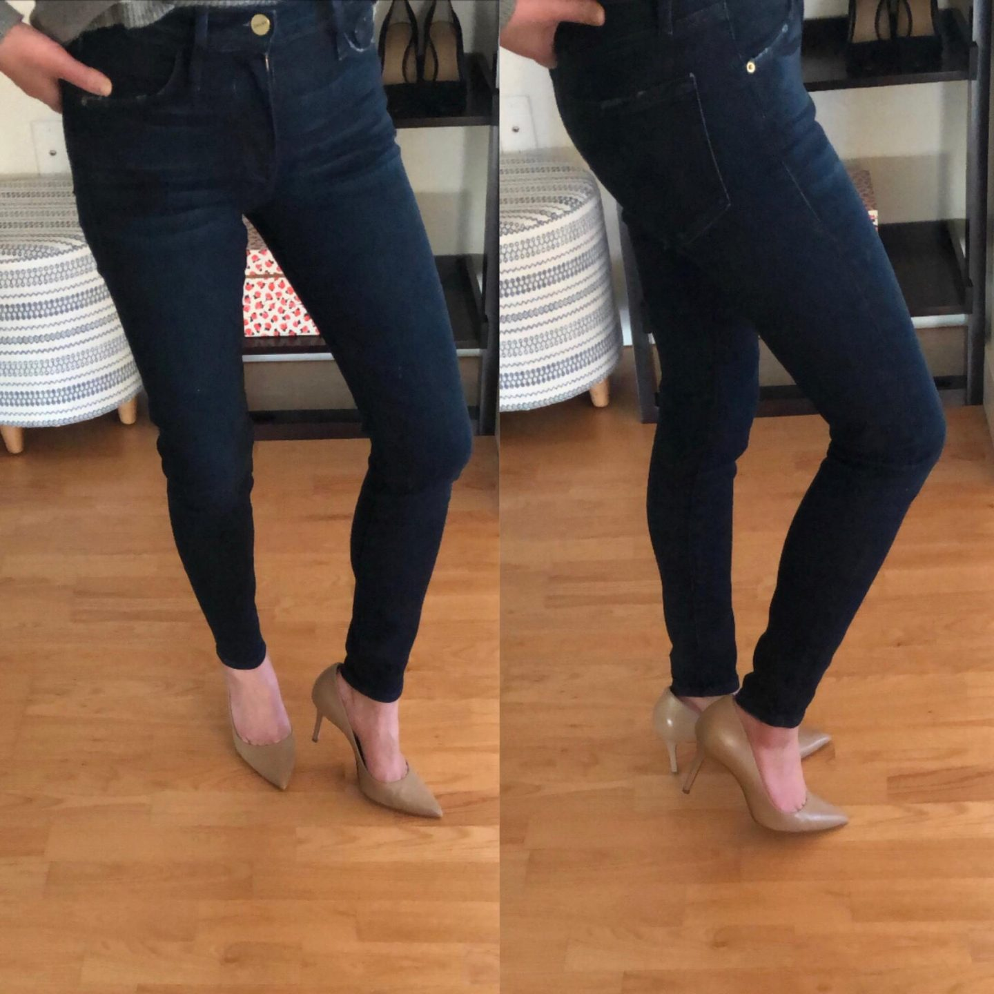 FRAME Le Skinny Cropped Jeans, size 24