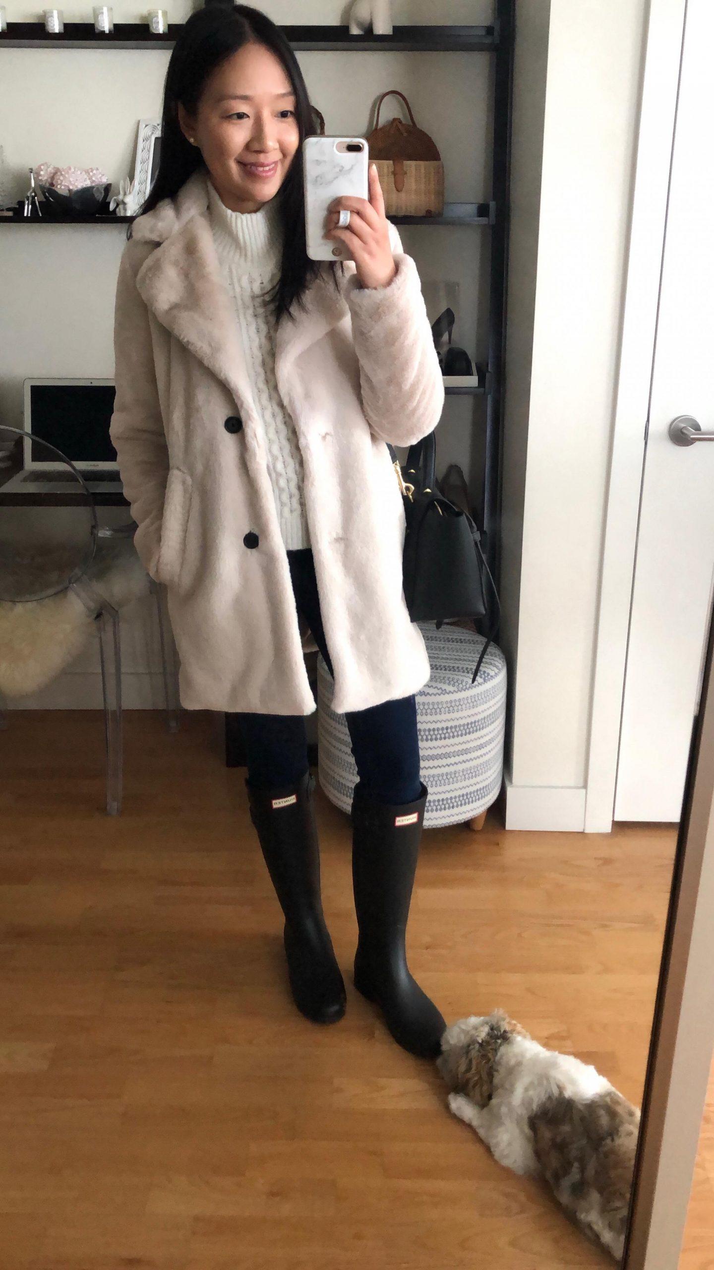 Abercrombie Faux Fur Coat, size XS