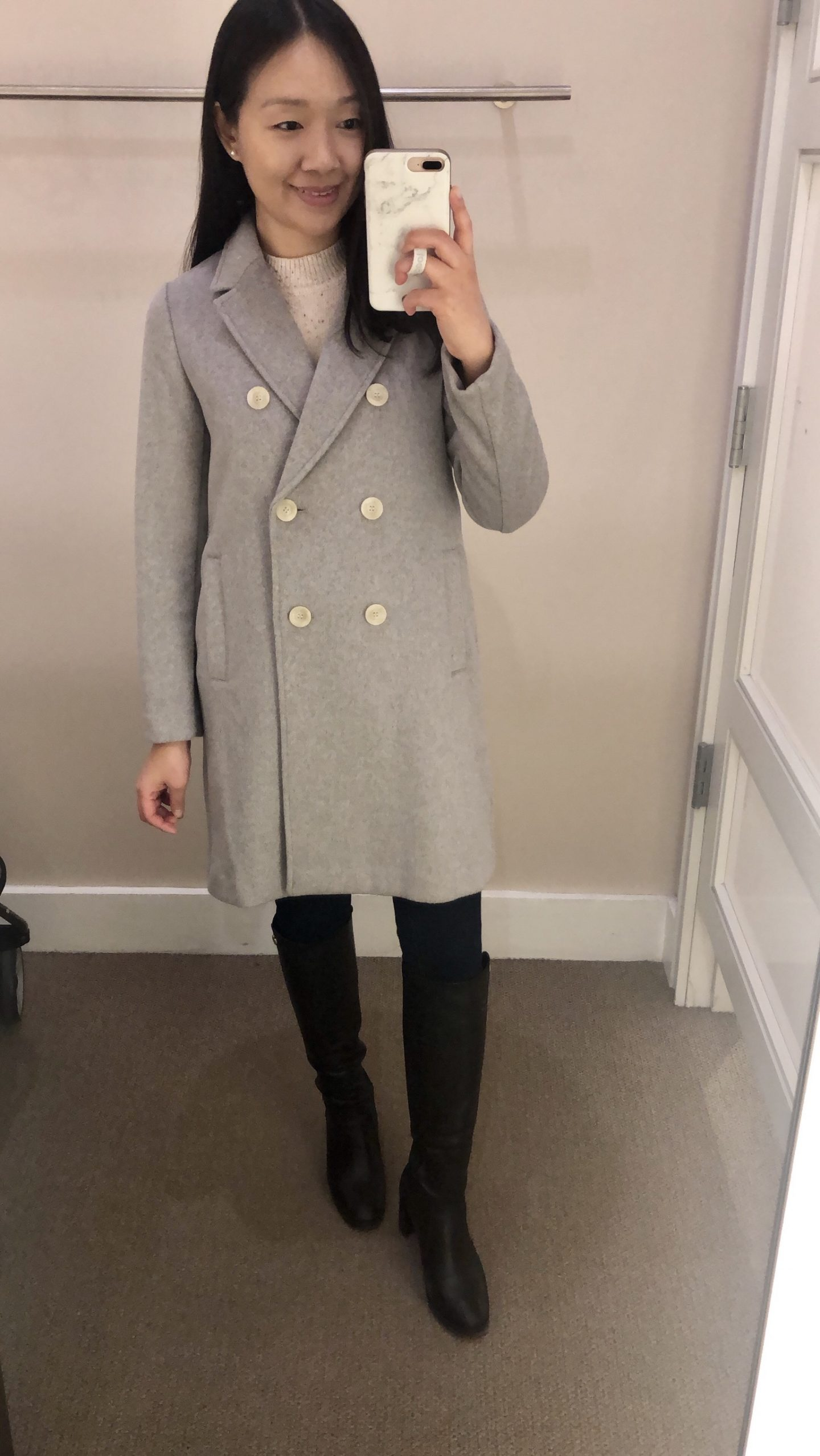 LOFT Double Breasted Coat, size XXSP