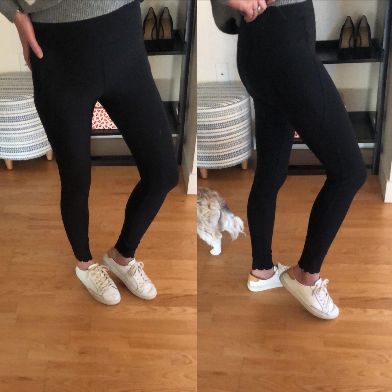 Mondetta Scalloped Hem Leggings, size XS
