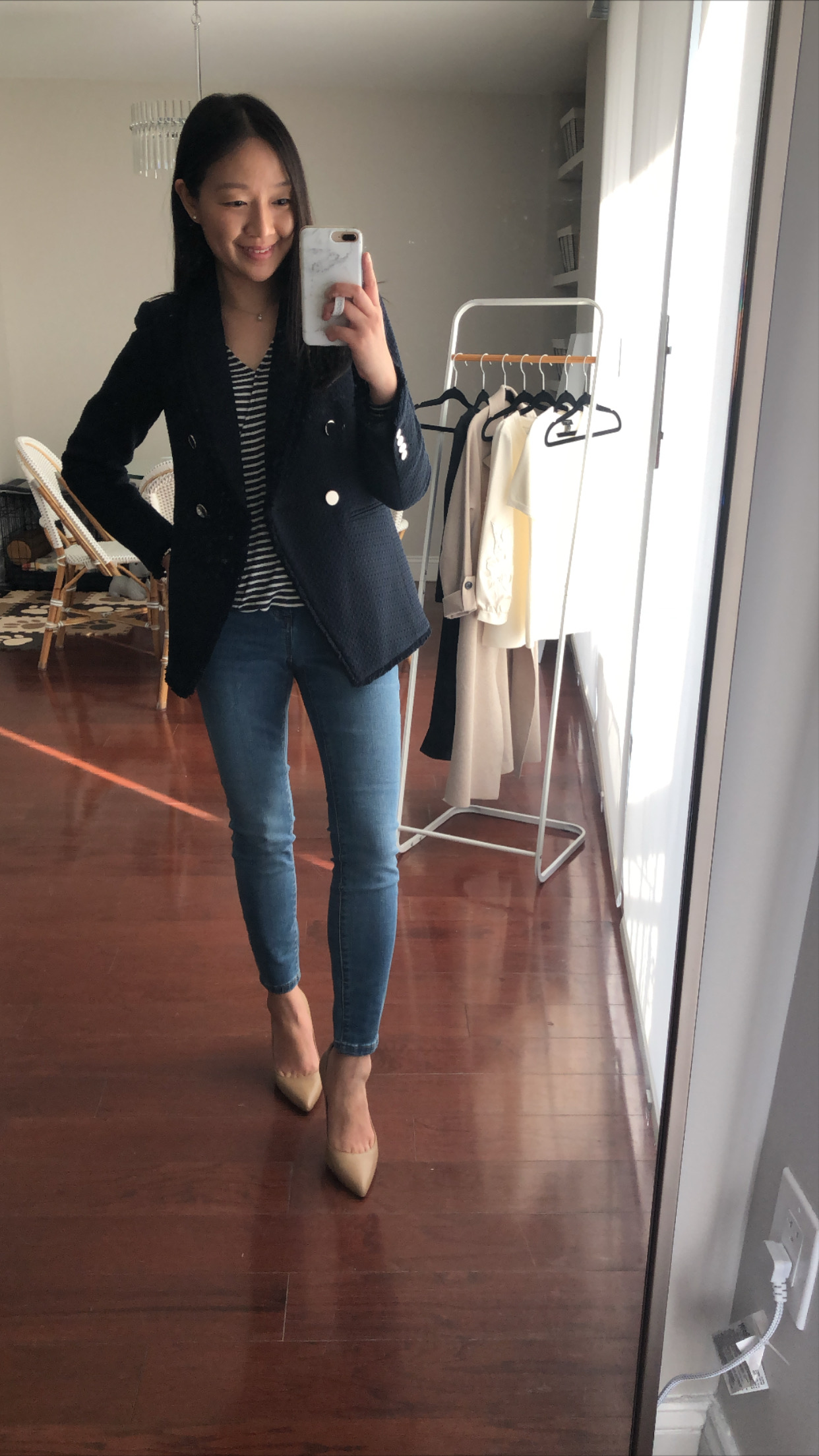Ann Taylor Double Breasted Tweed Blazer, size 0P