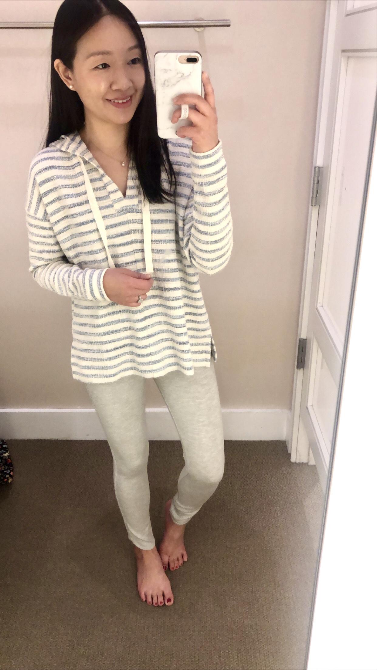 Lou & Grey Striped Boucle Hoodie, size XS regular