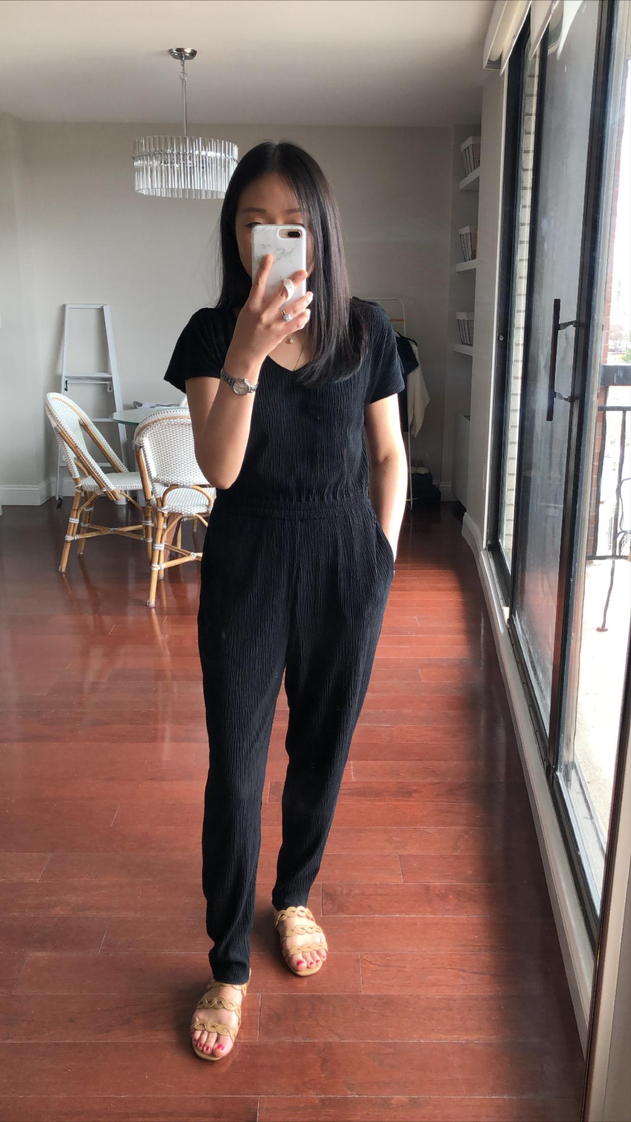 Ann Taylor Slit Sleeve Jumpsuit, size XSP