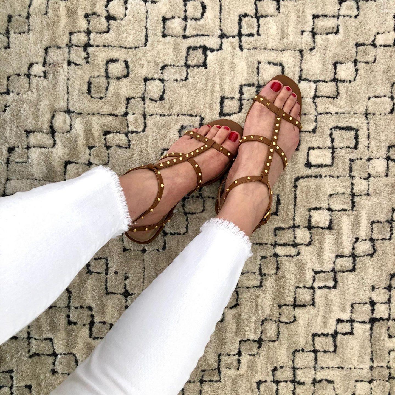 Ann Taylor Belen Leather Gladiator Sandals