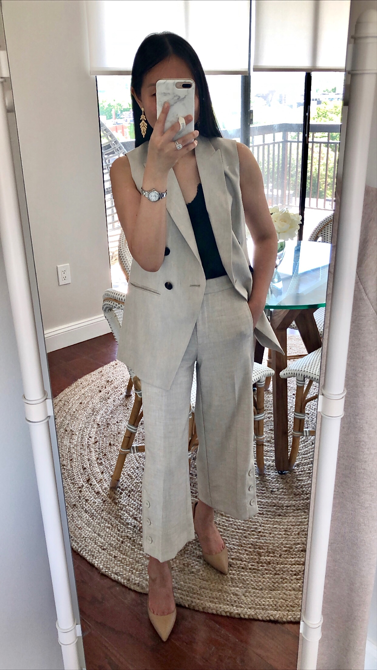 Ann Taylor Double Breasted Vest, size 0P