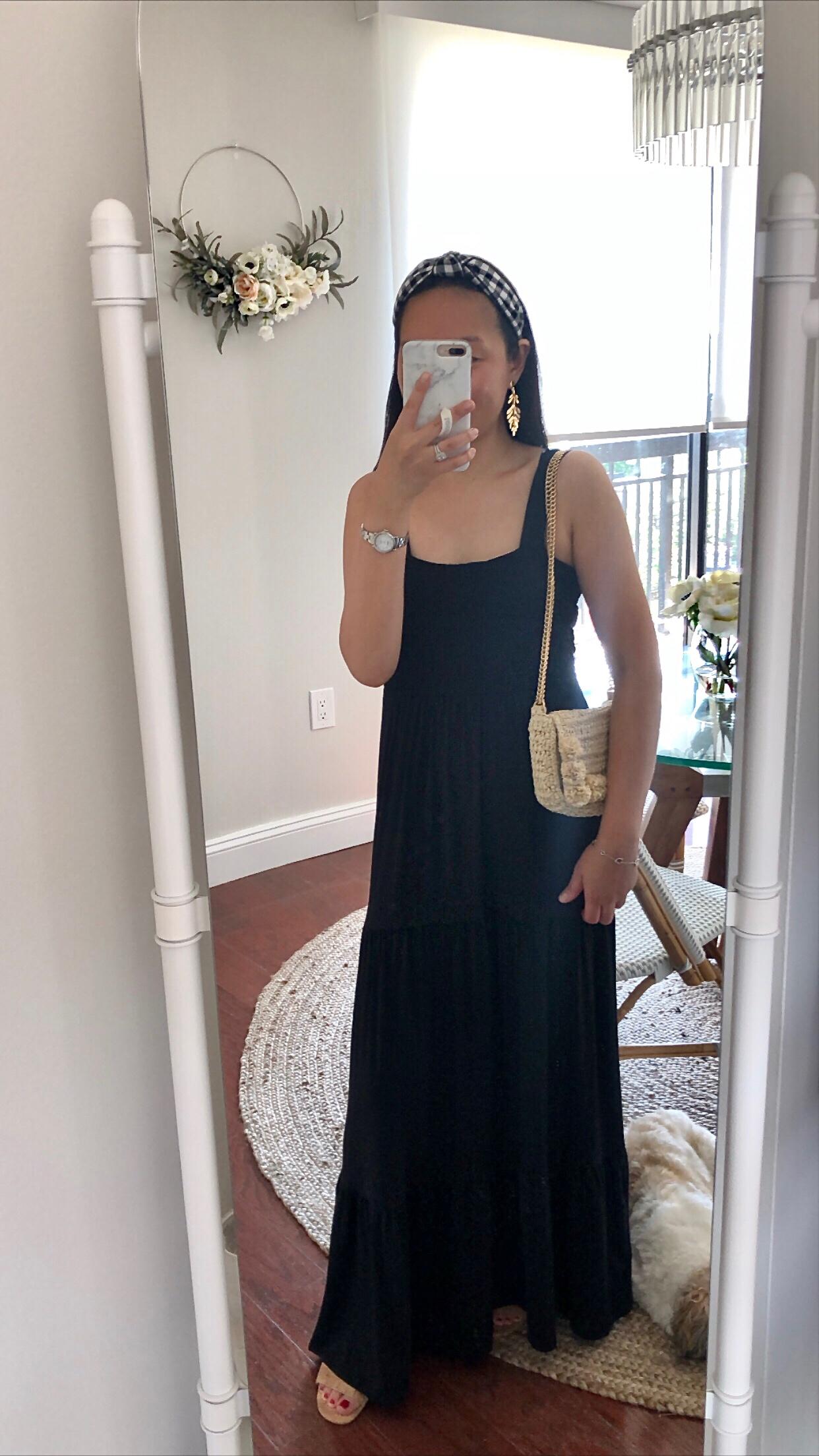 LOFT Smocked Tiered Maxi Dress, size SP