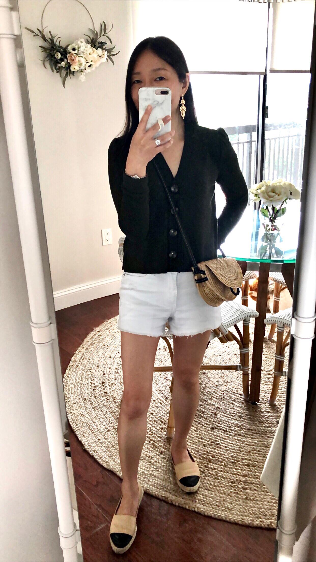 LOFT Cropped Cardigan Top, size XSP