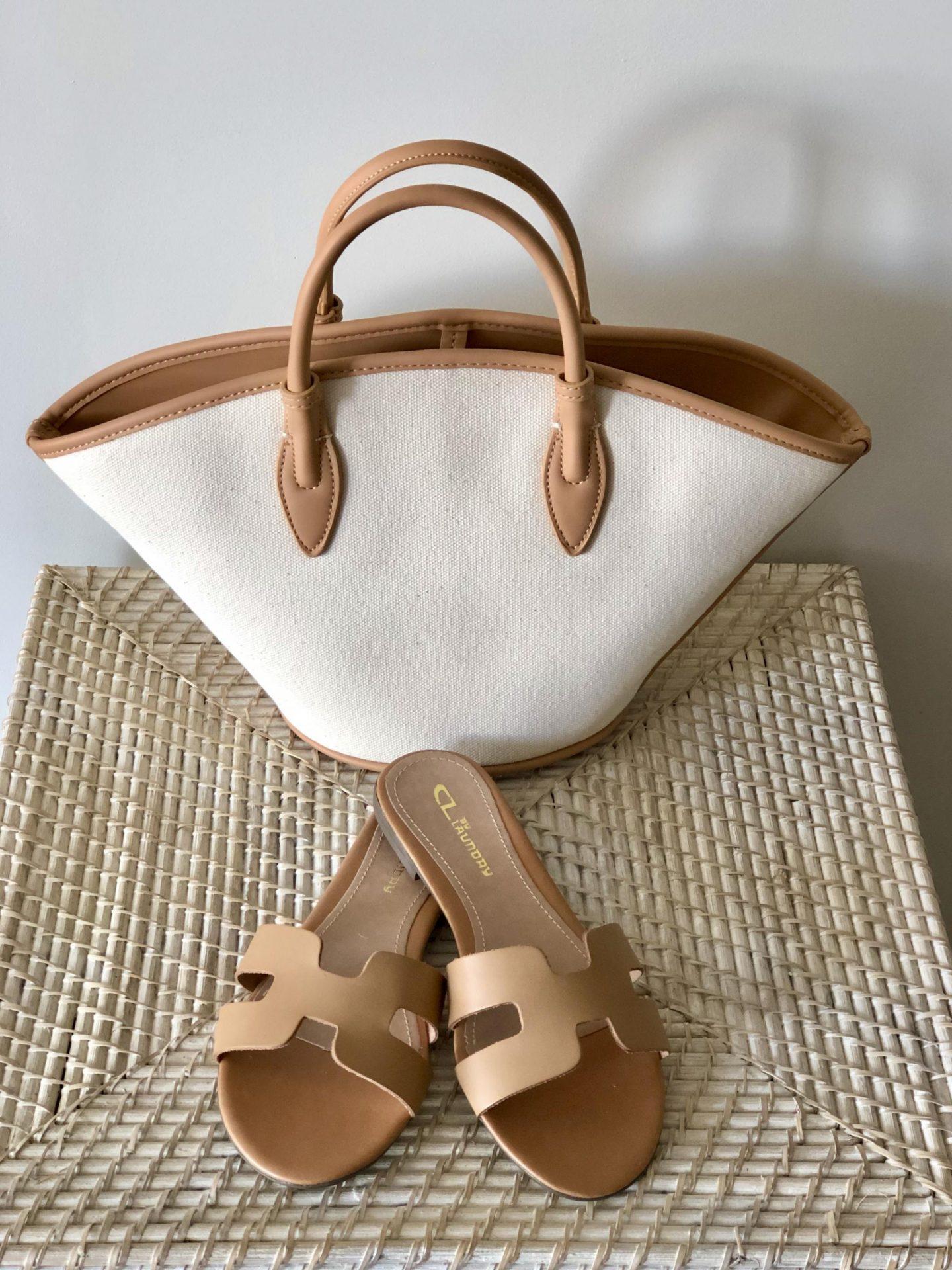 Zara Canvas Basket Bag (ref no. 6403/610)
