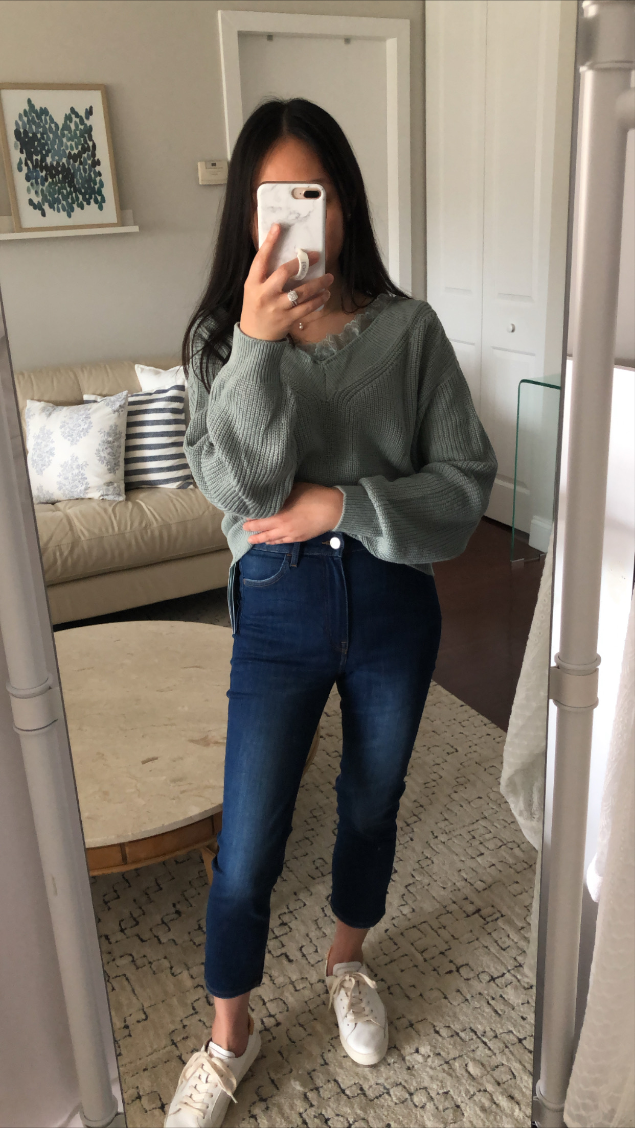 H&M Skinny High Cropped Jeans, size 2