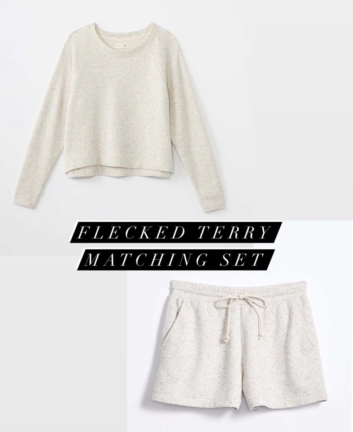 Lou & Grey Flecked Terry Matching Set