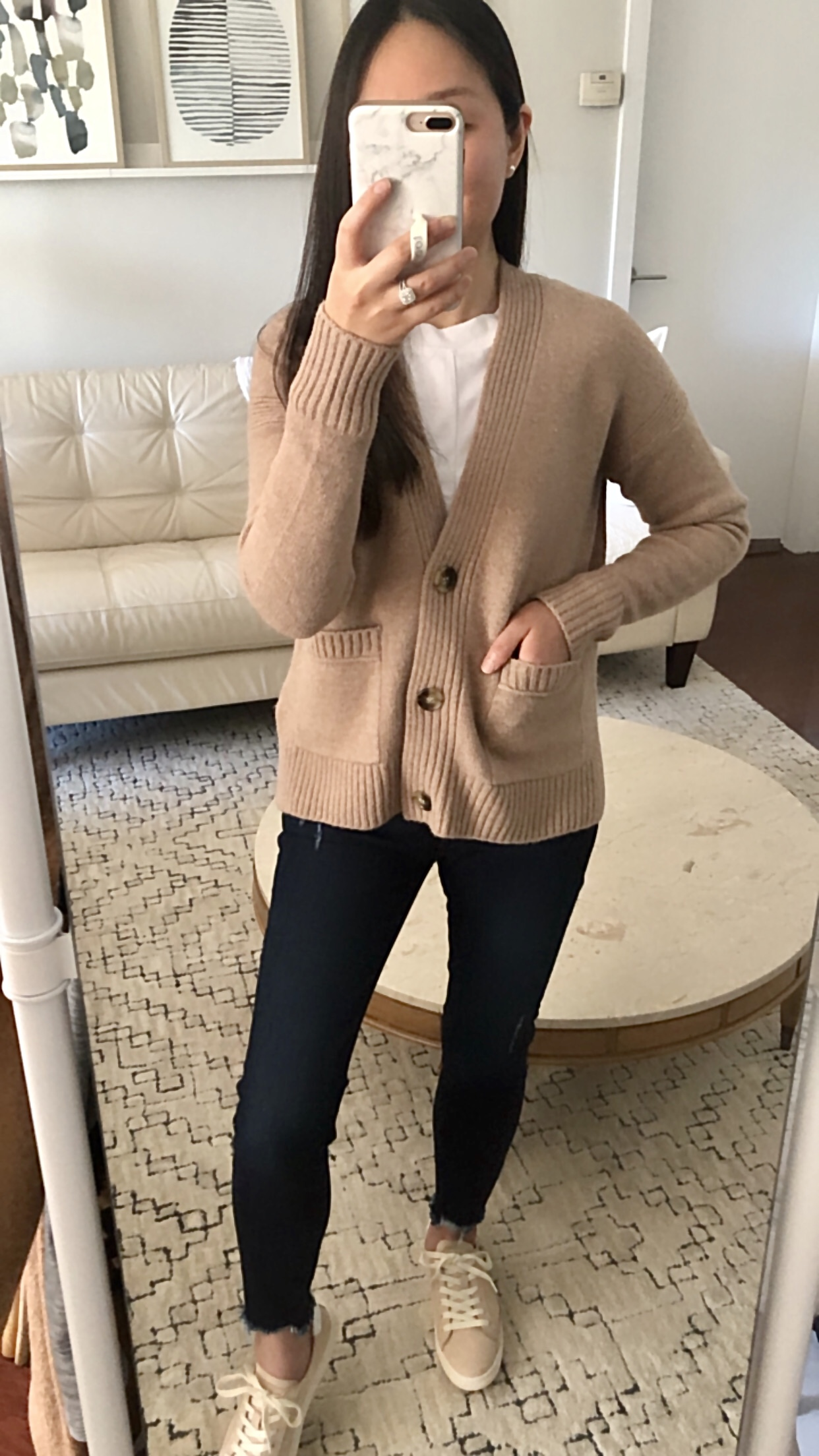 J.Crew Cropped cardigan sweater in supersoft yarn, size XXS regular