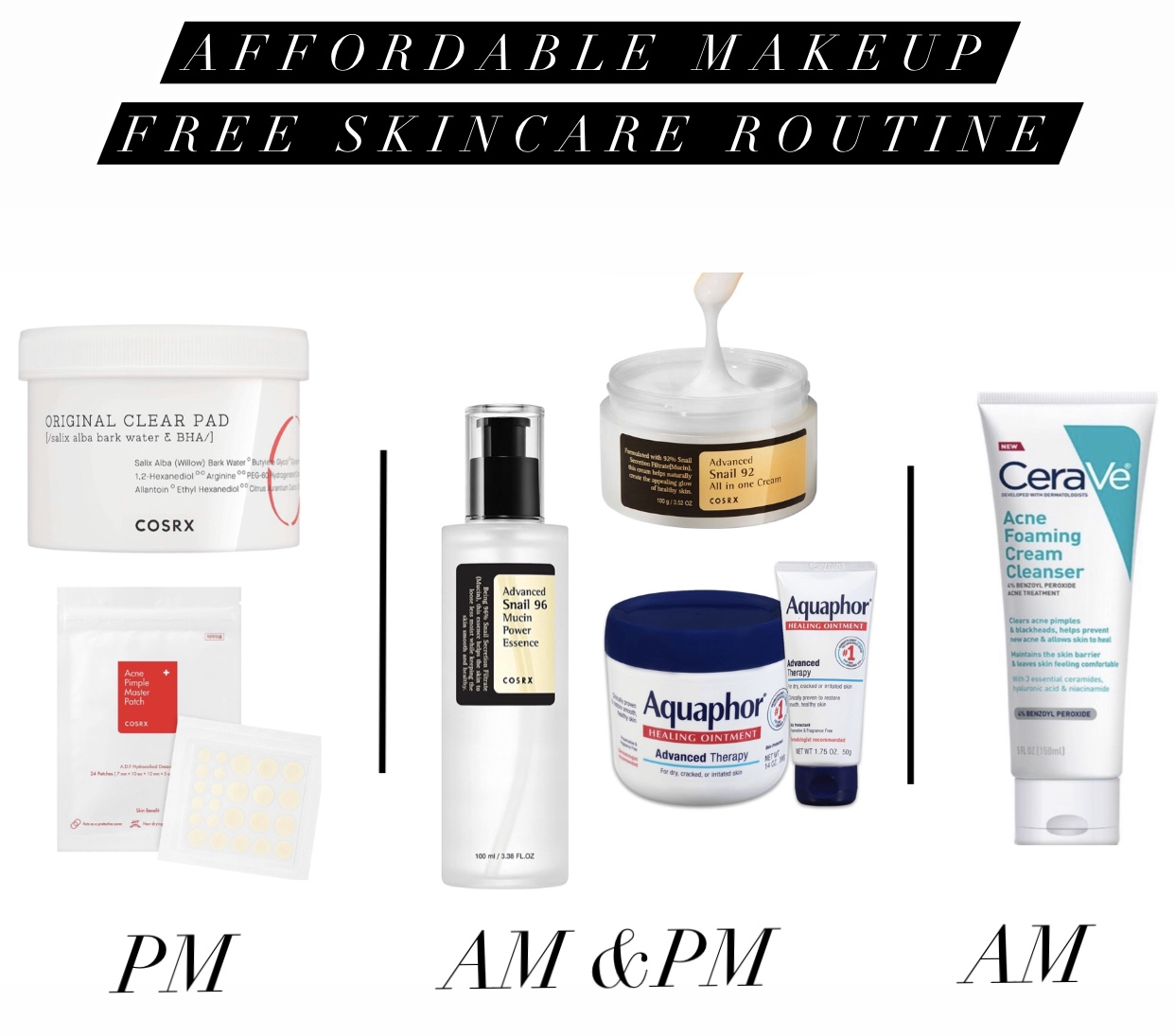 Current Accordable Makeup Free Skincare Routine