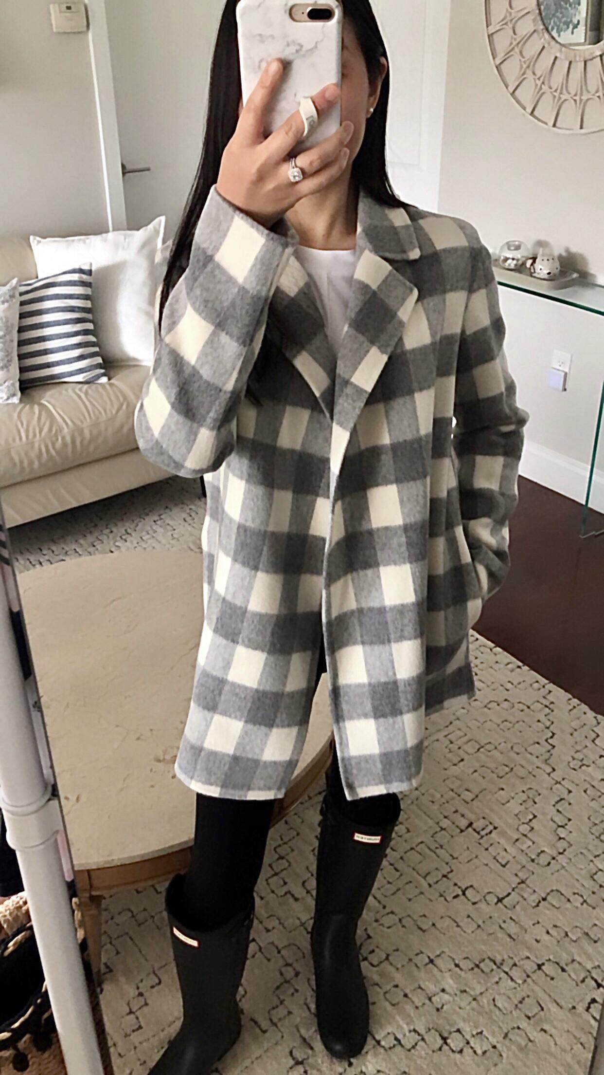 Theory Sileena Buffalo Plaid Jacket, size P