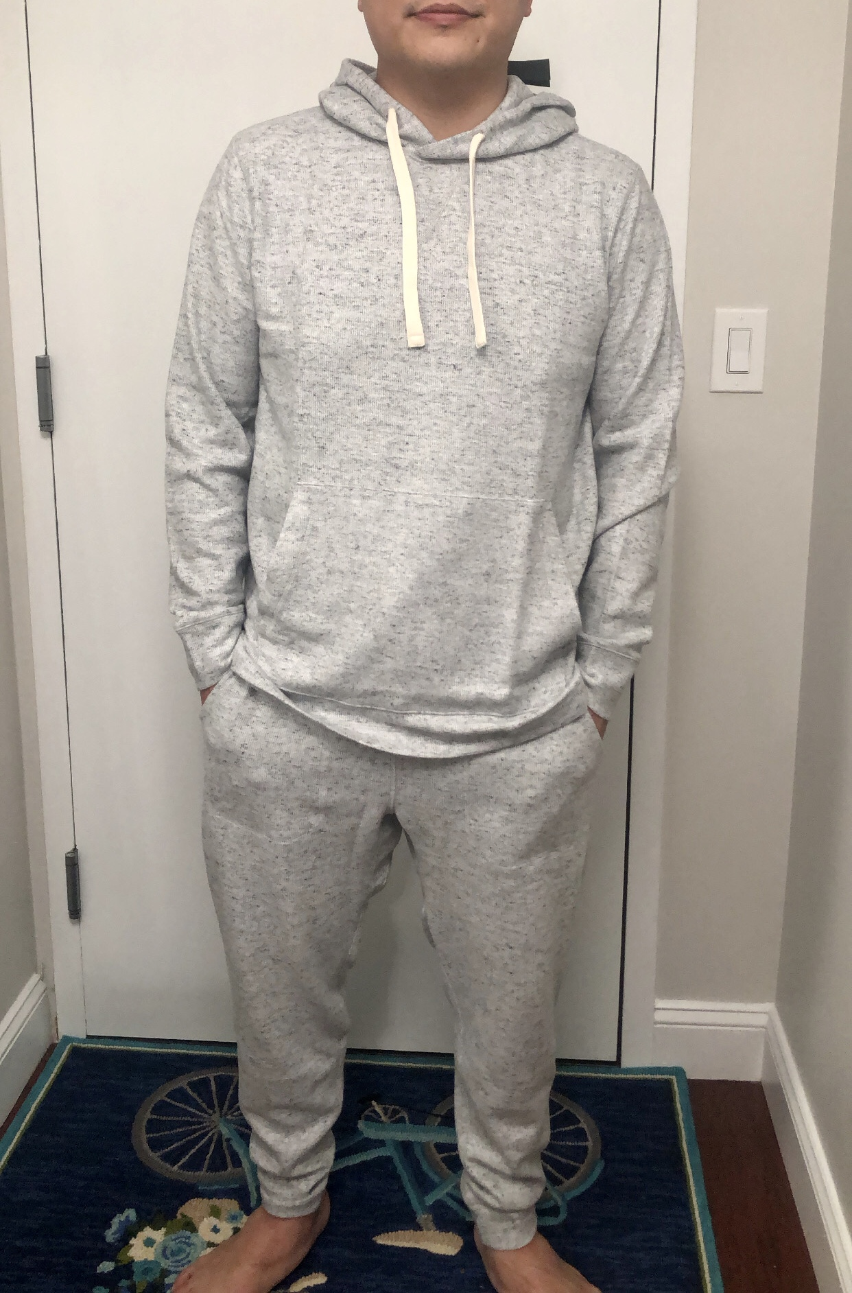 Banana Republic Brushed Waffle-Knit Hoodie, size XL