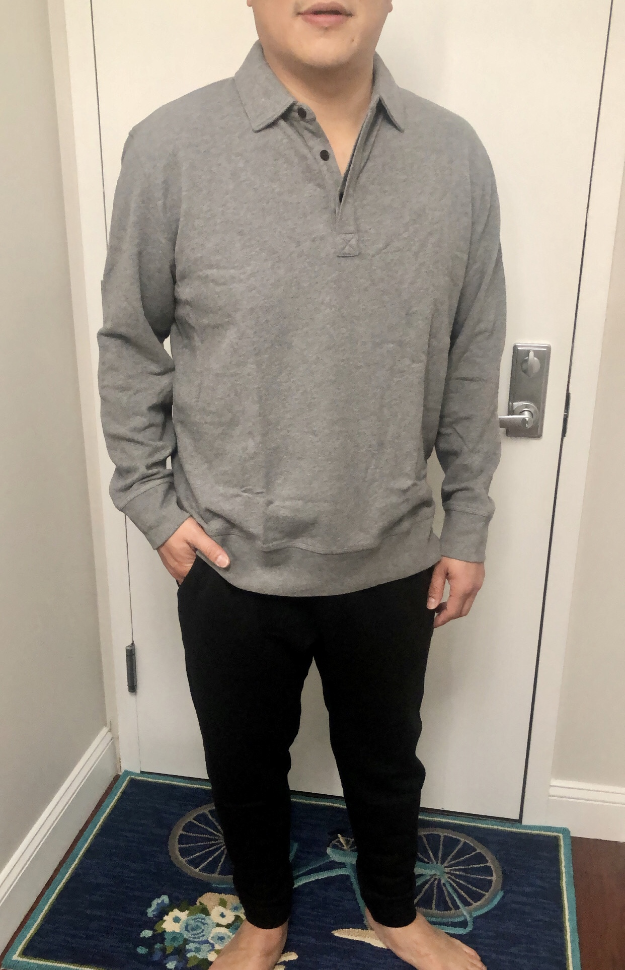 Banana Republic Core Temp Rugby Sweatshirt, size XL