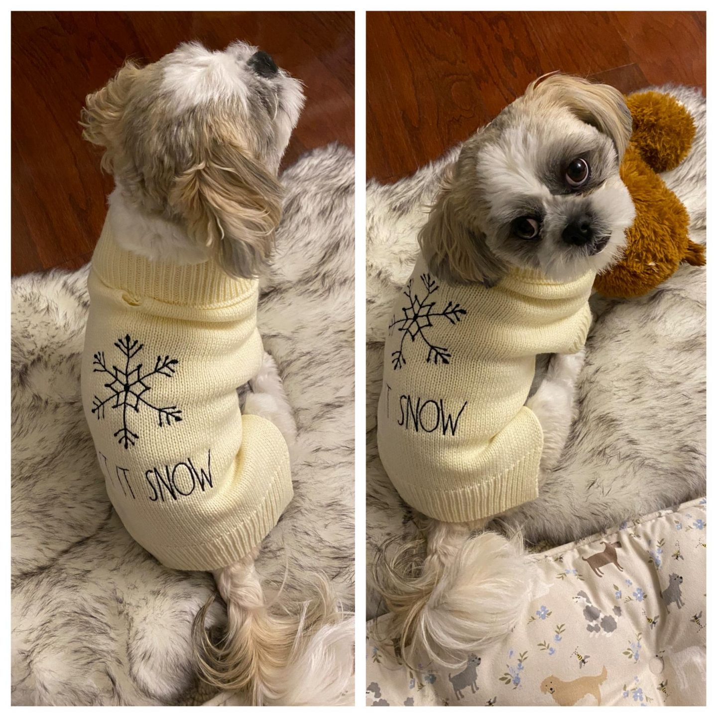 Rae Dunn Let It Snow Sweater, size S
