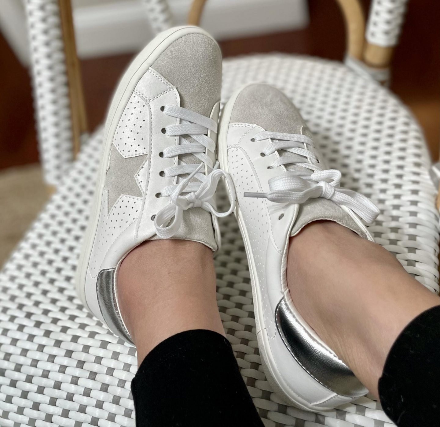 Madden Girl Lace Up Suede Star Sneakers