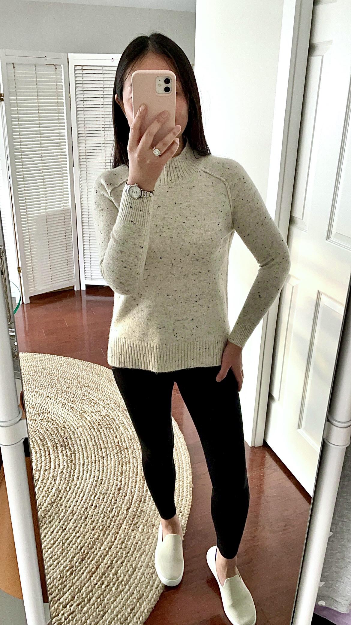 LOFT Flecked Tunic Sweater, size XXSP