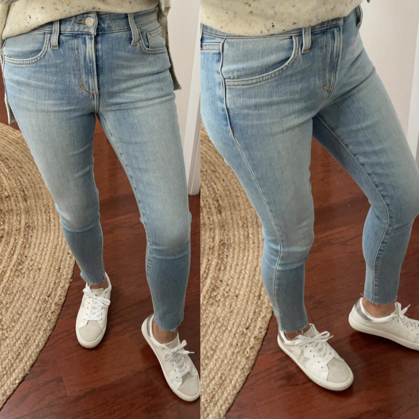 Joe's Jeans The Icon Cropped Jeans With Cut Hem, size 25