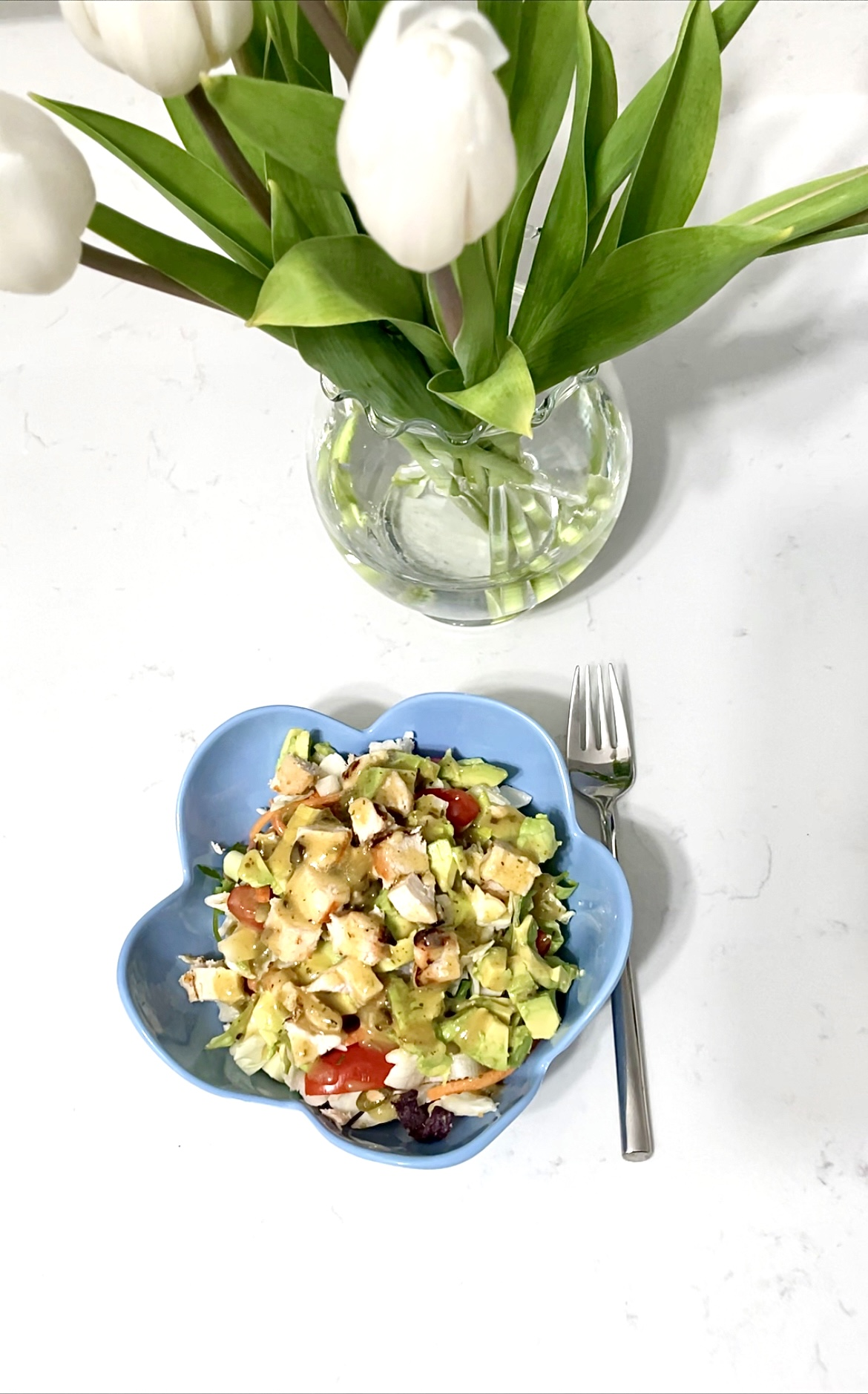 Spritz 14oz Melamine Flower Dining Bowl