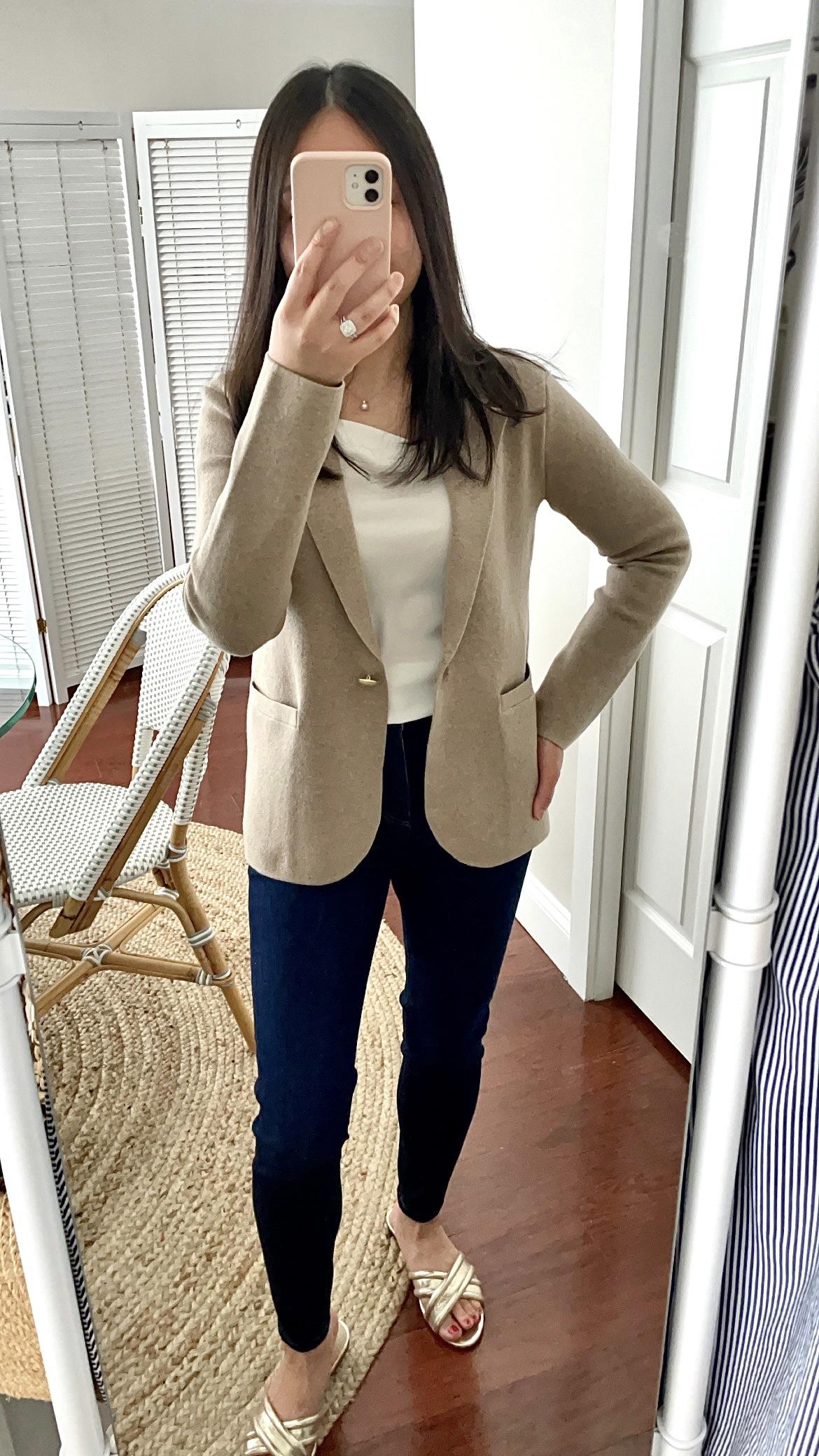 J.Crew Camille shrunken sweater-blazer, size XS