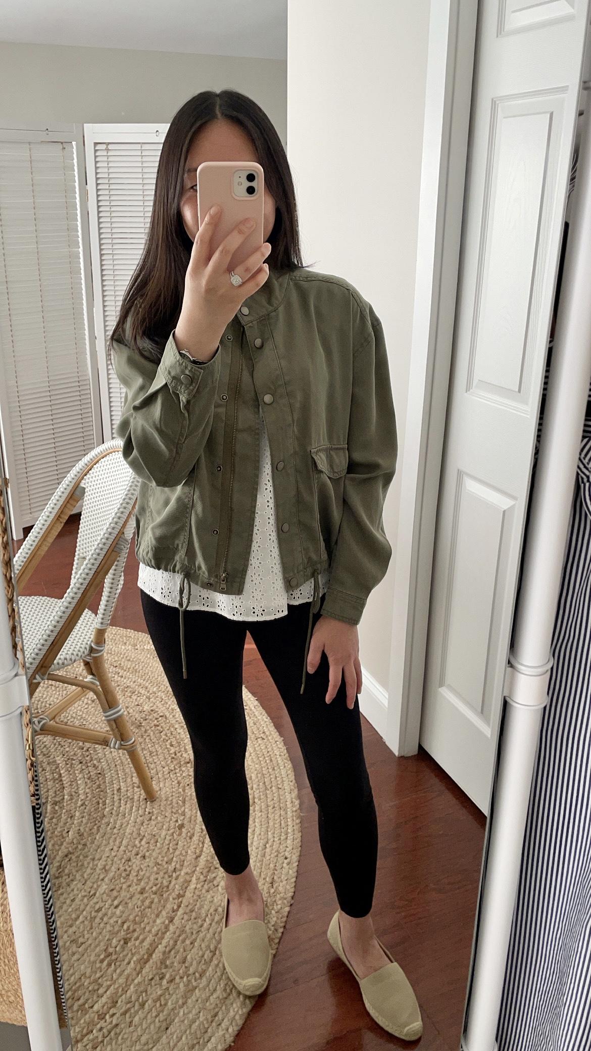 LOFT Twill Drawstring Jacket, size XXS regular