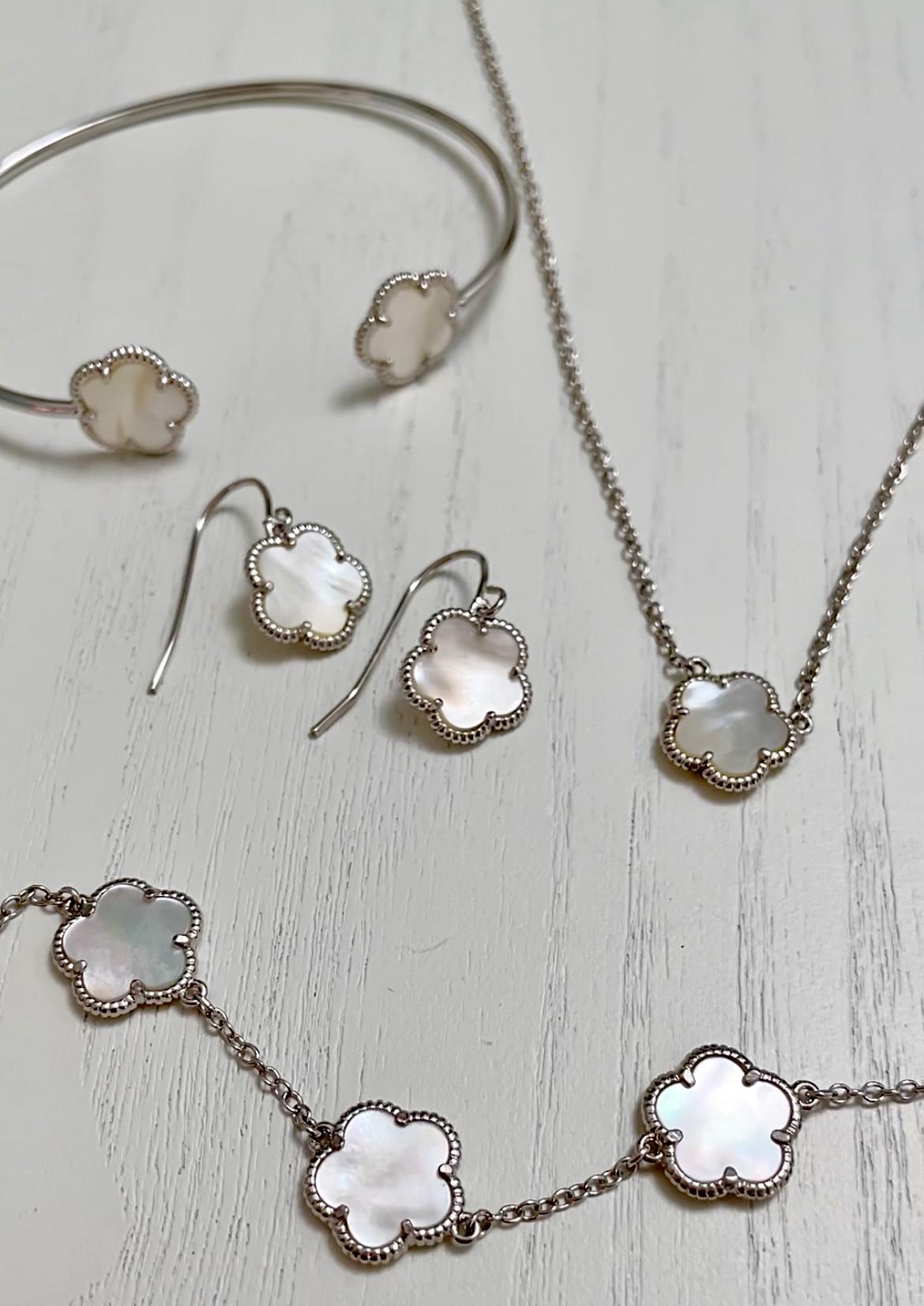 Jan Kou Clover Mother-Of-Pearl Jewelry