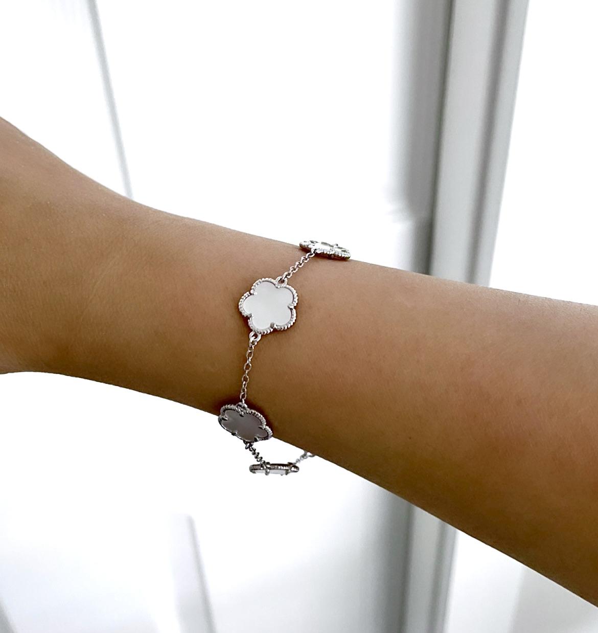 Jan Kou Clover Mother-Of-Pearl Bracelet