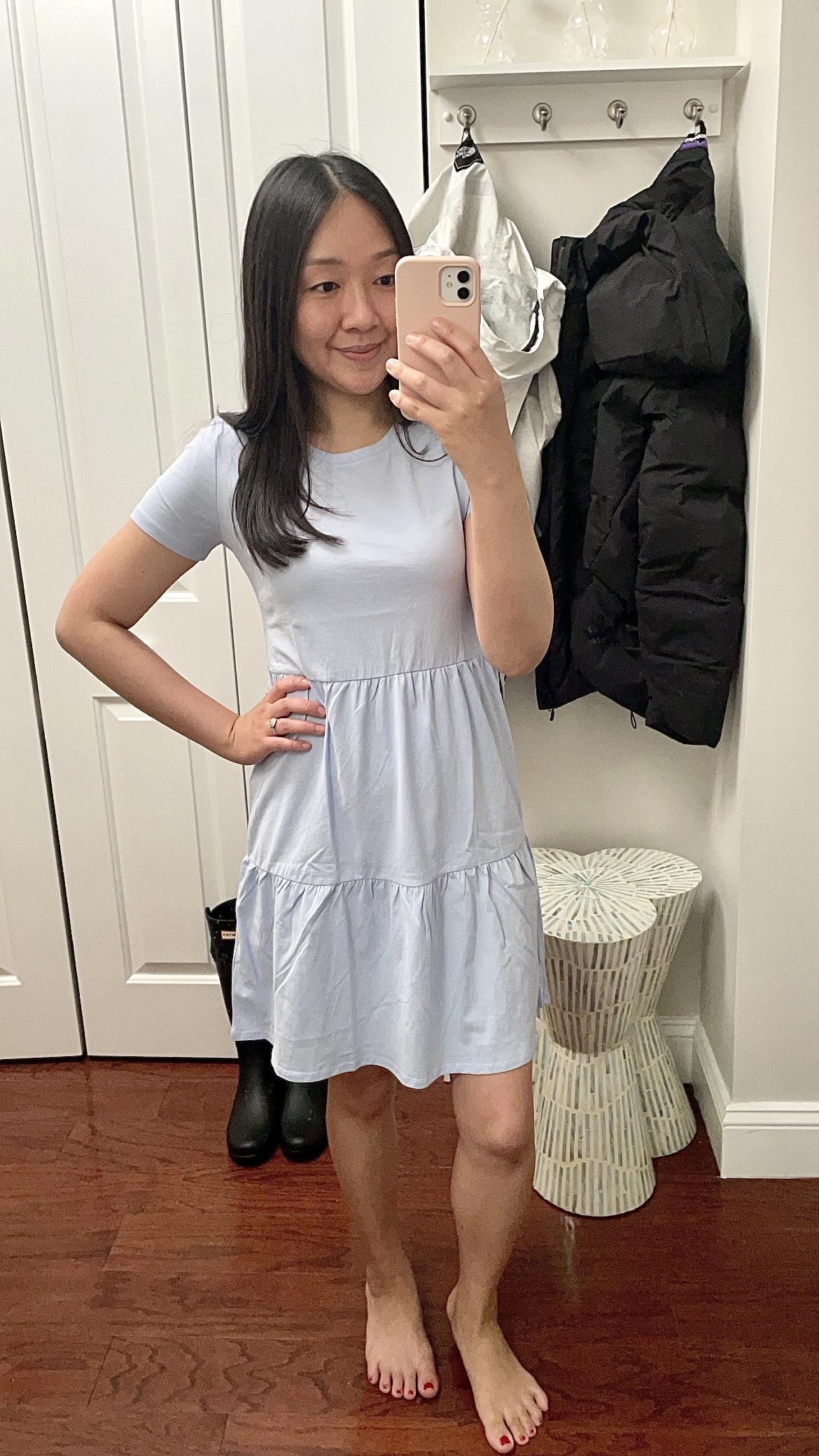 J.Crew Factory Tiered Mini Dress, size XXS