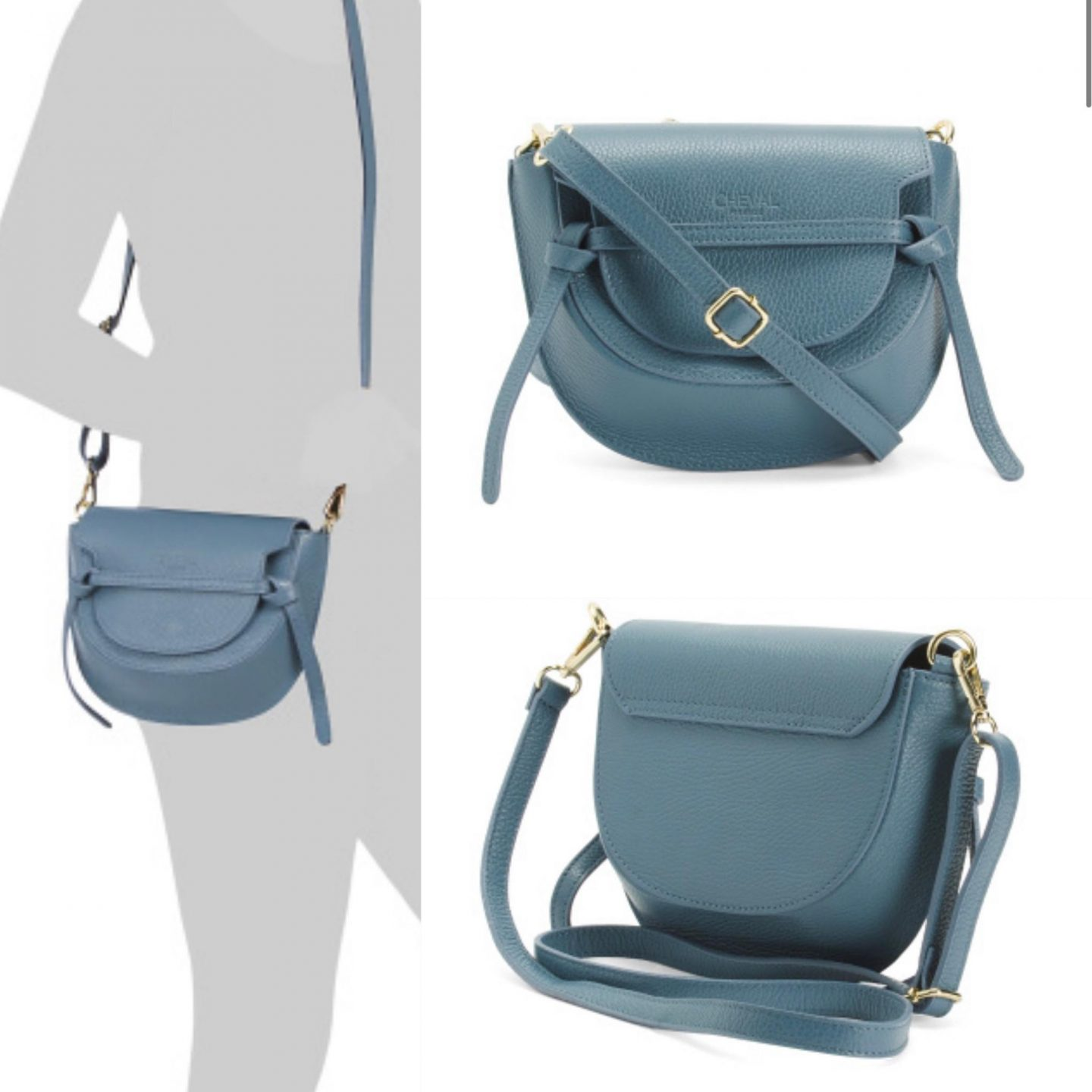 Cheval Made In Italy Saddle Leather Crossbody