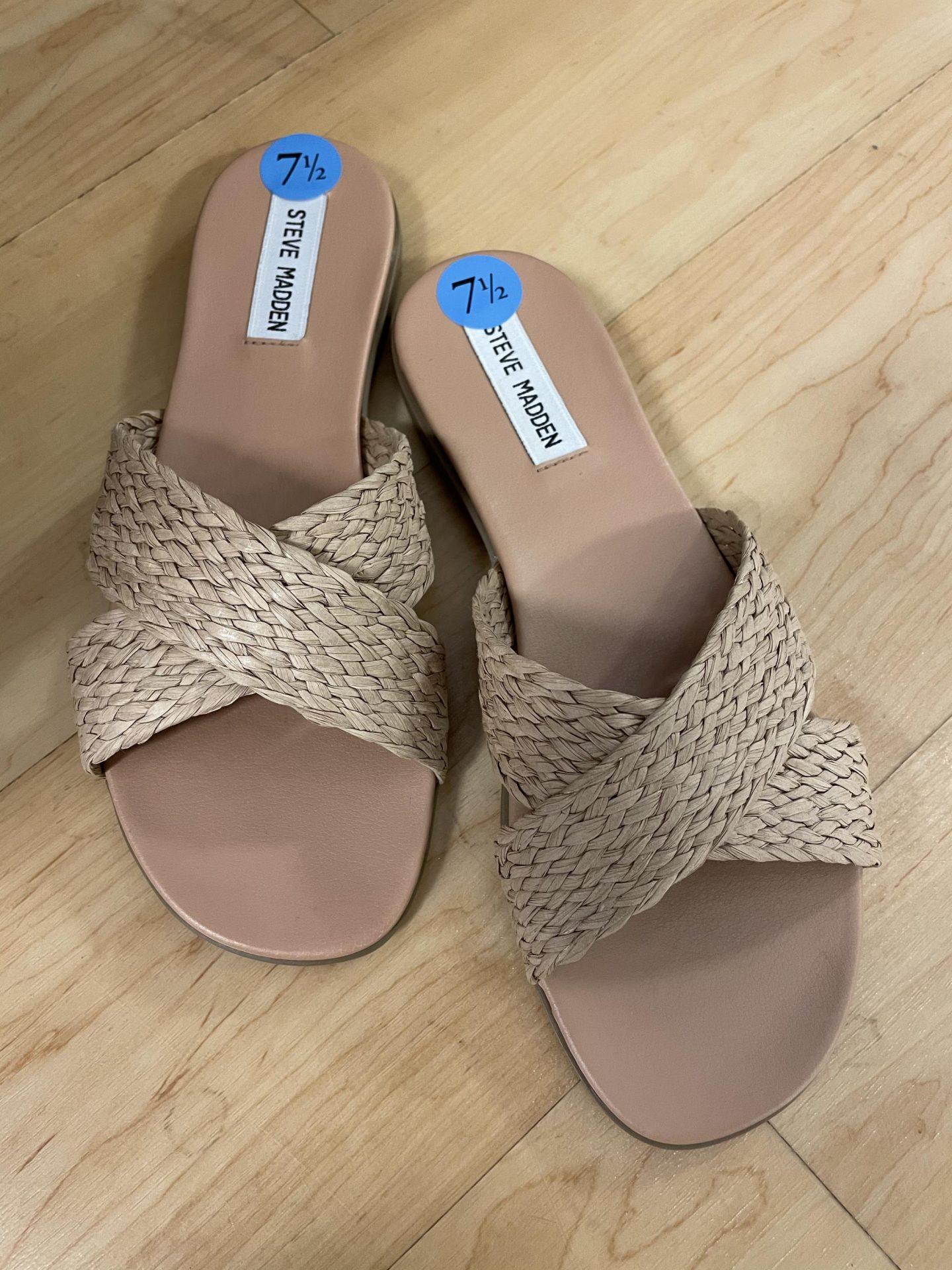 Steve Madden Vlaty Sandals in natural