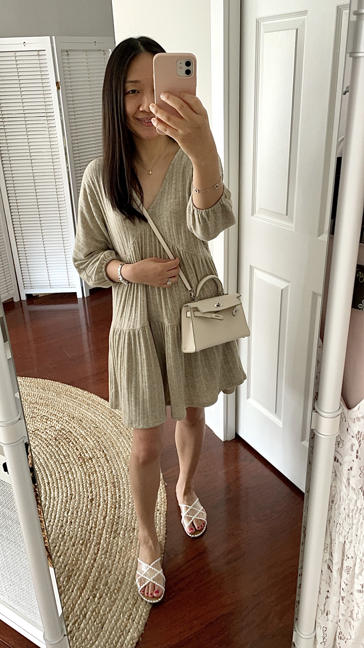 LUSH Textured Knit Baby Doll Dress, size S
