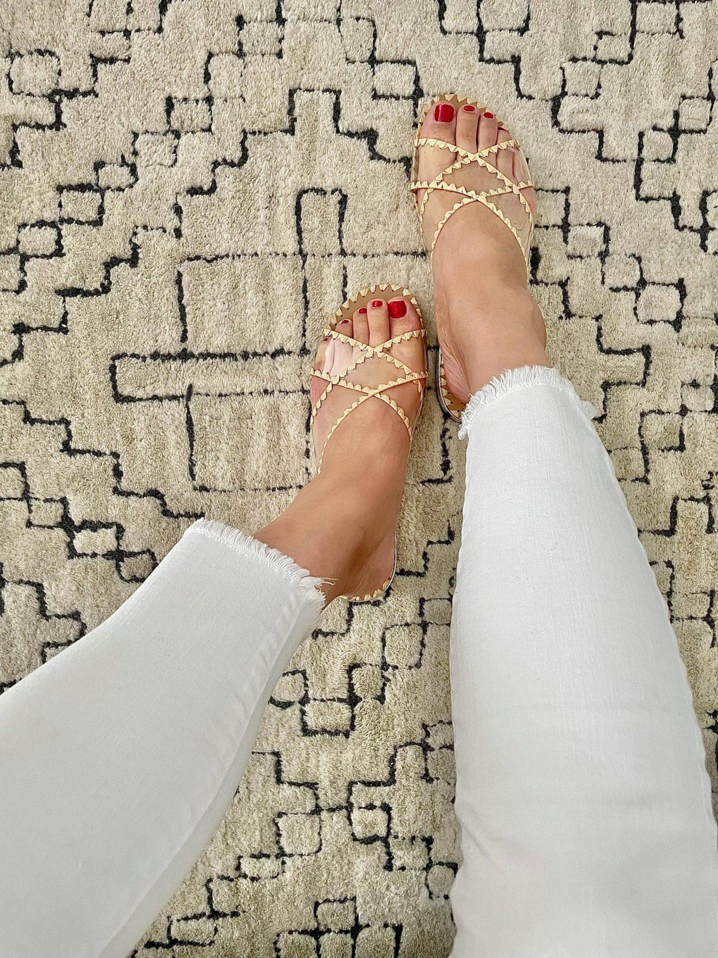 Nine West Ieni Flat Slide Sandals