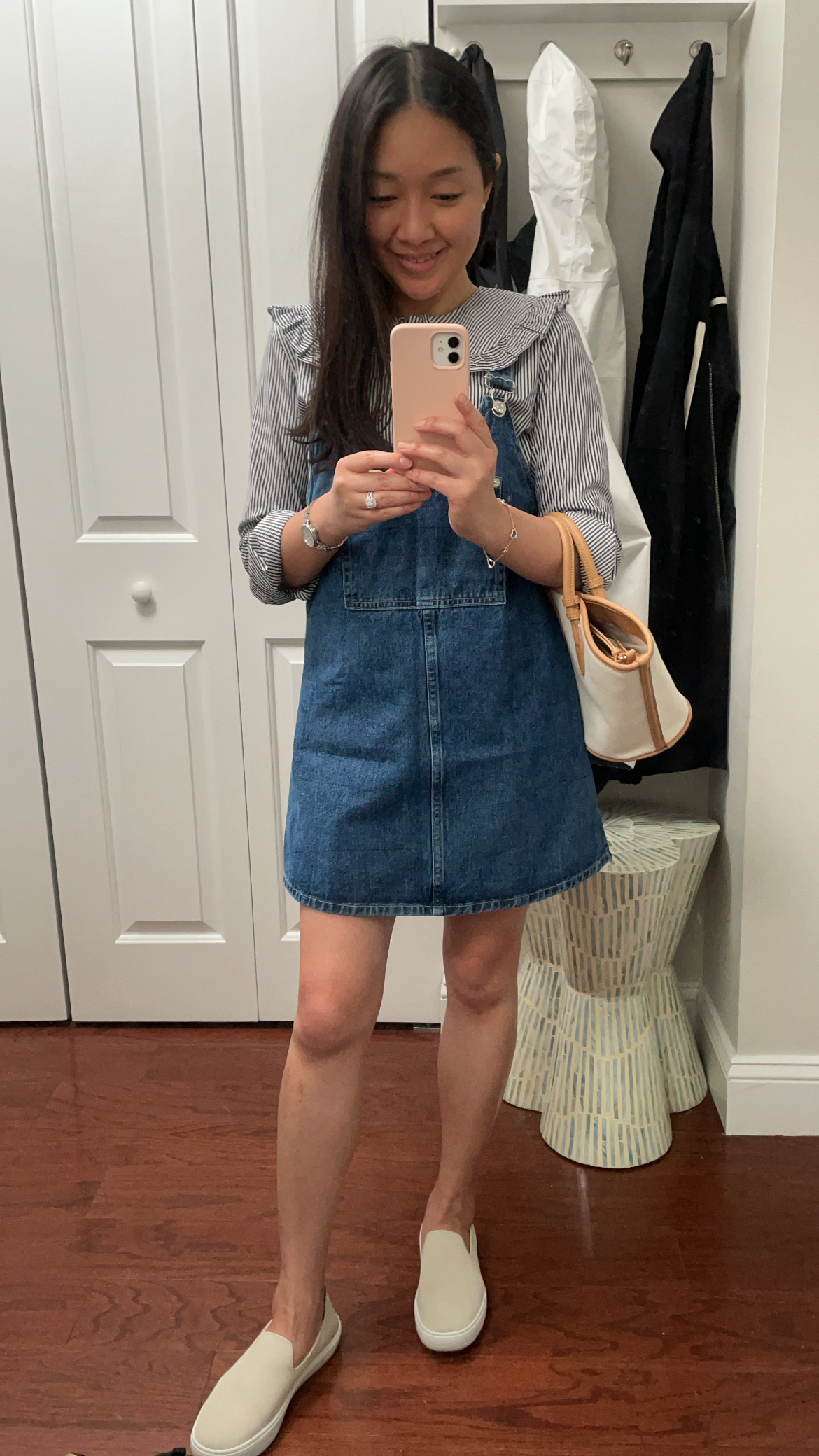 Zara Denim Pinafore Dress, size S