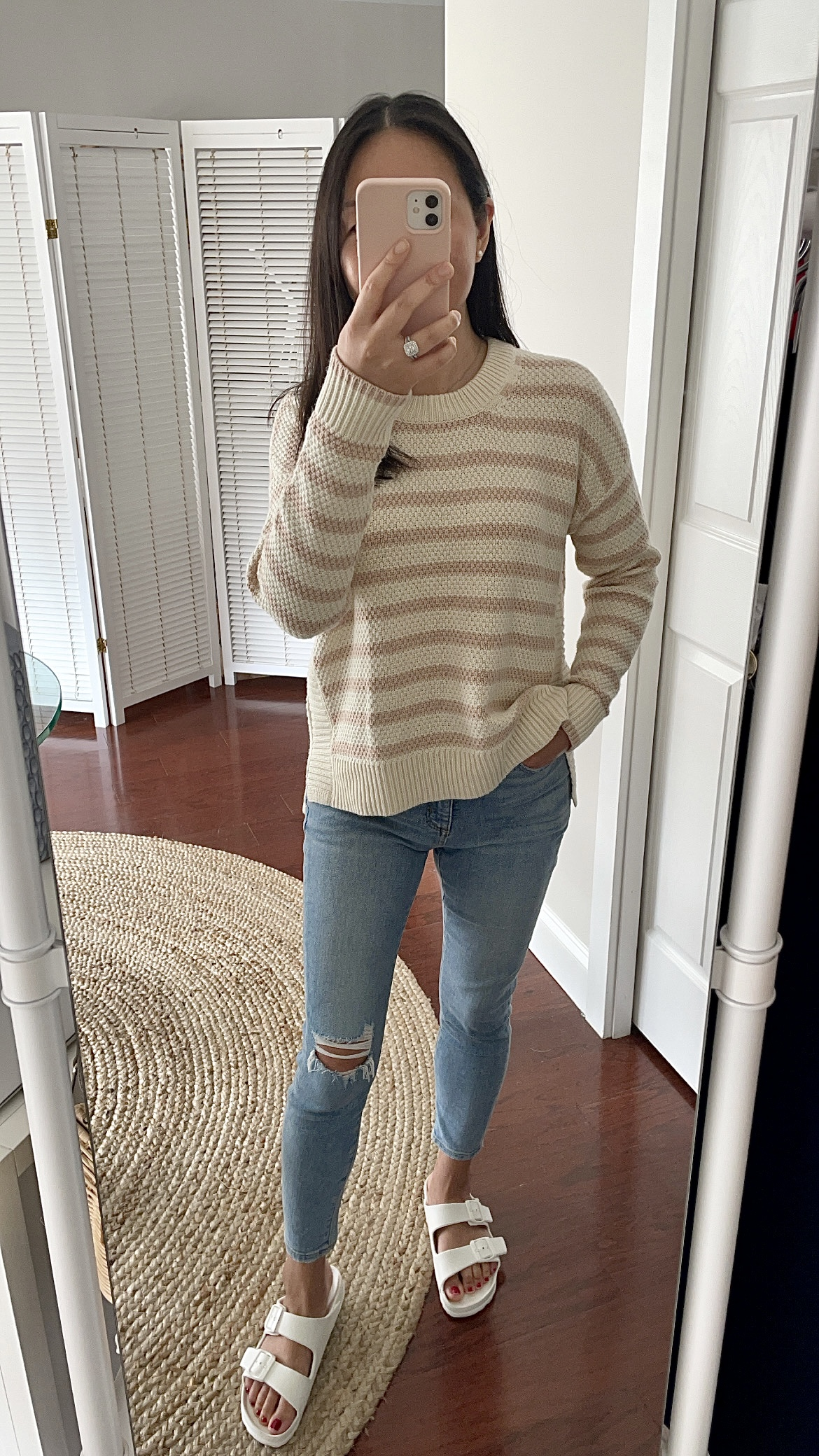 Madewell Stripe Pickford Pullover Sweater, size XS