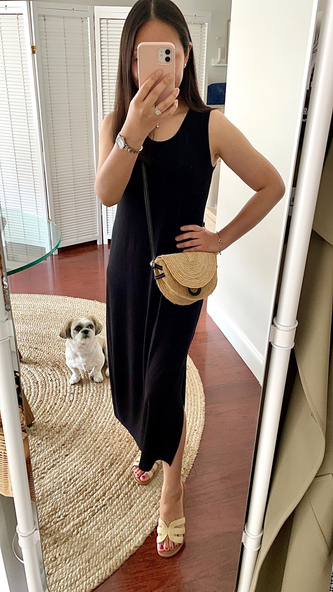 Eileen Fisher Viscose Jersey Scoop Neck Dress, size PP