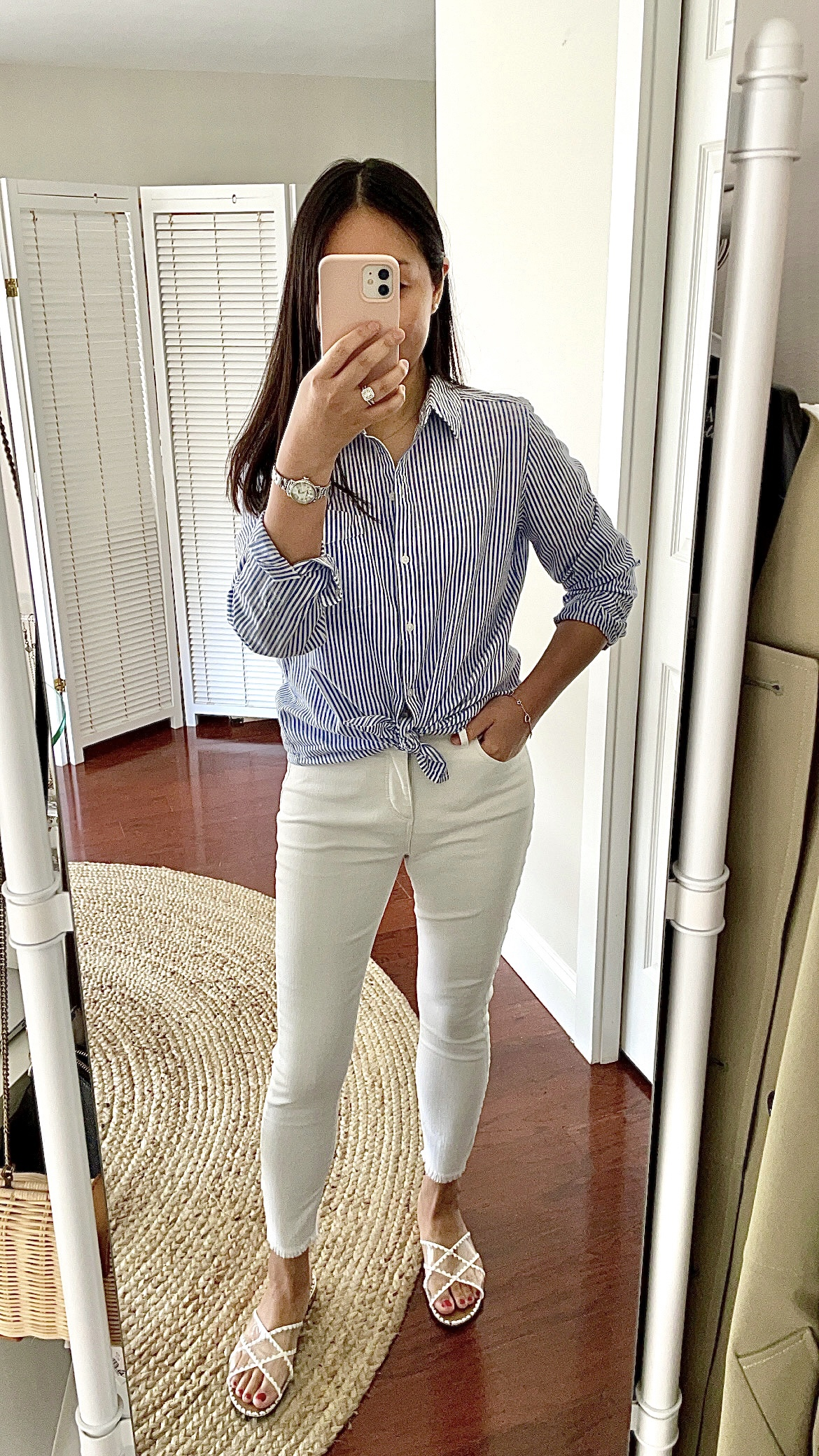 Goodthreads Women's Washed Cotton Boyfriend Shirt, size S