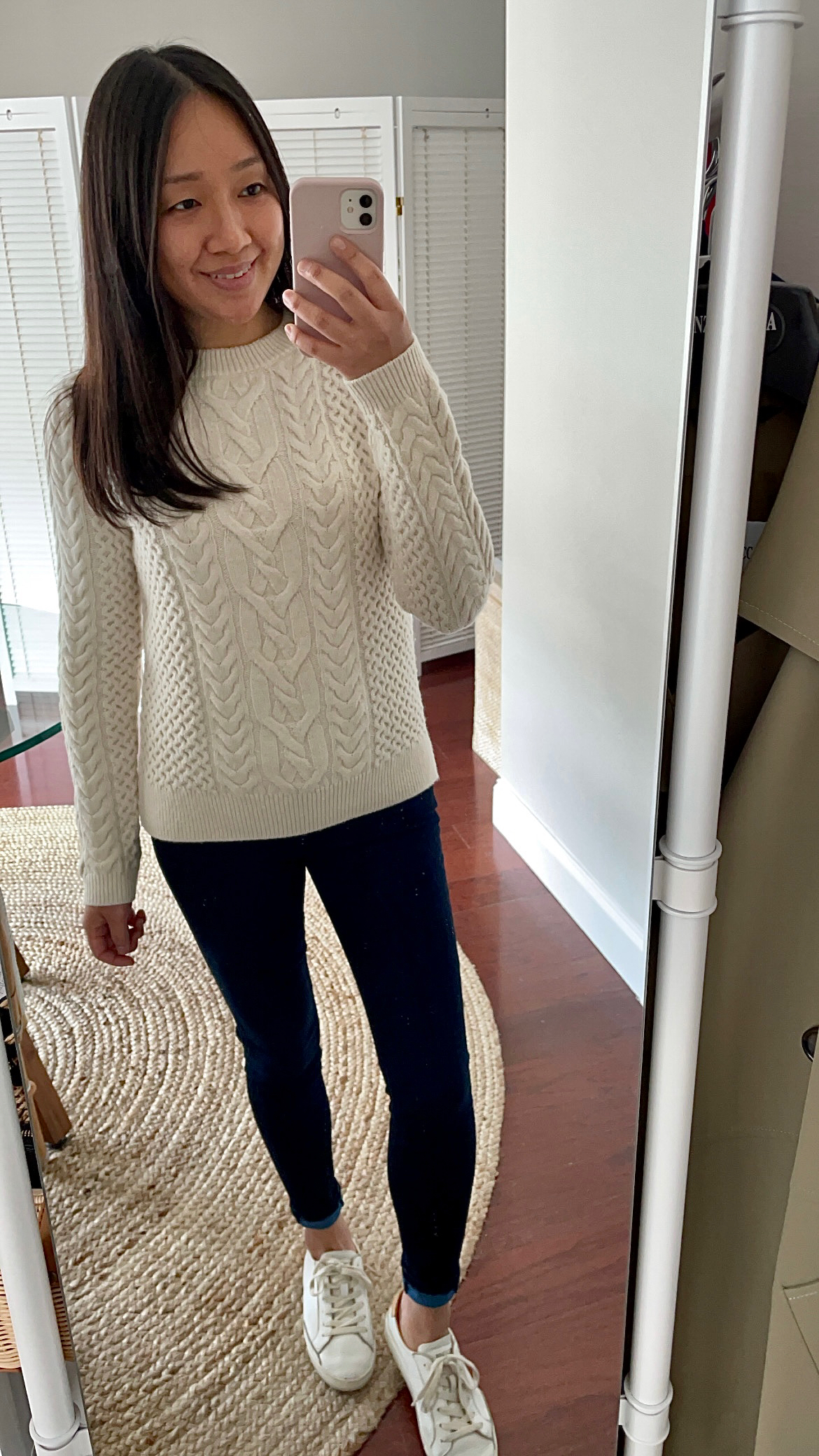 Nili Lotan x Target Women's Crewneck Cableknit Pullover Sweater, size XS