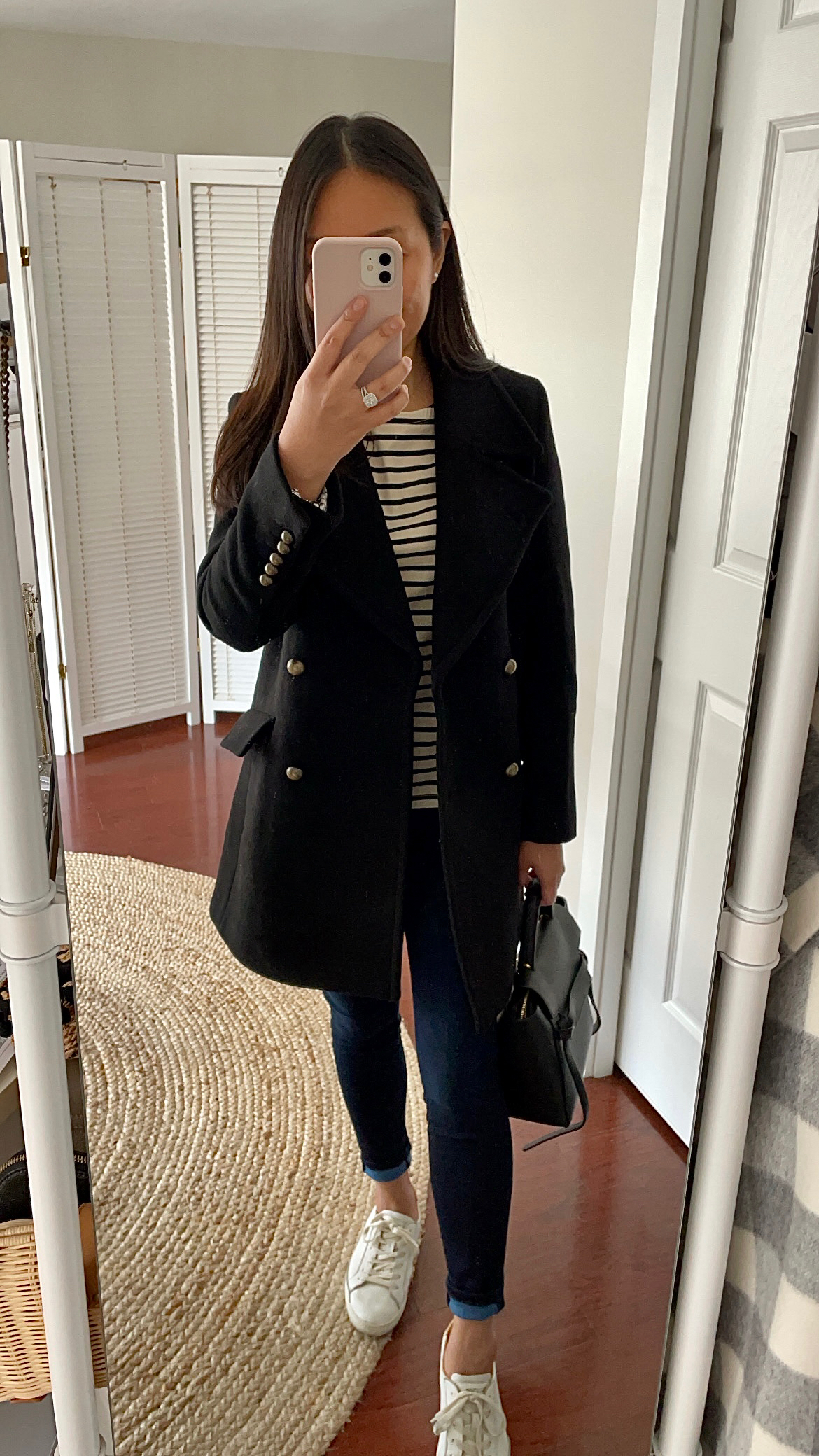 Nili Lotan x Target Women's Double Breasted Coat, size XXS